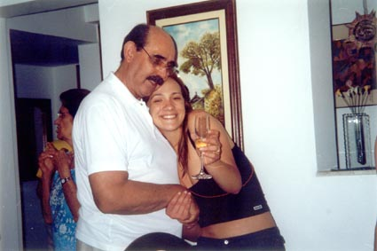 Paula Tooths with Lucha Libre fighter King di Paula