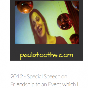 Paula Tooths - speaker for an event