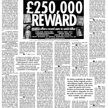 Paula Tooths - first page with an article about a british serial killer