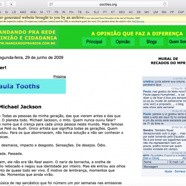Paula Tooths article published on Mandando pra Rede