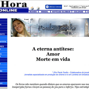 Paula Tooths writing for Jornal A hora