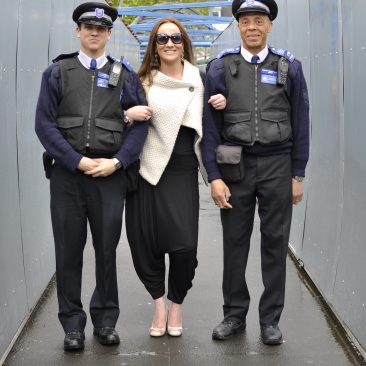 Paula Tooths - Producing a fashion catalogue in West London with the help of the Metropolitan Police