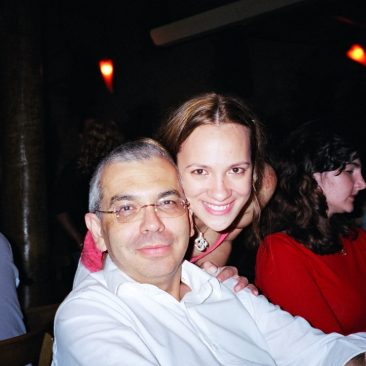 Paula Tooths with her TV director Celso Tavares