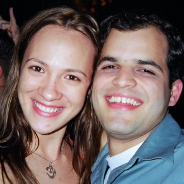 Paula Tooths with Producer/ sports journalist Thiago Galassi