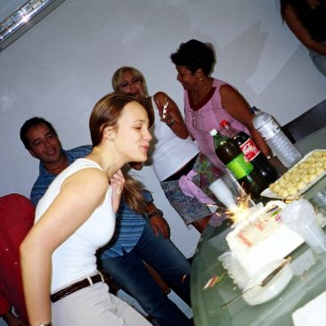 Paula Tooths birthday with TV presenters Beto Hora and Astrid Fontenelle at TV Band Office