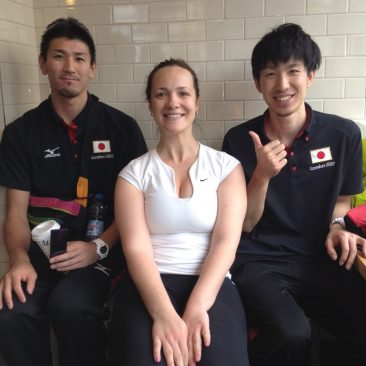 Paula Tooths interviewing Japanese Gold medalist / London Olympics